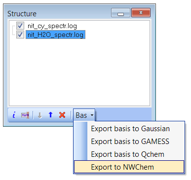 Export basis set to Gaussian, GAMESS, NWChem or Q-Chem format